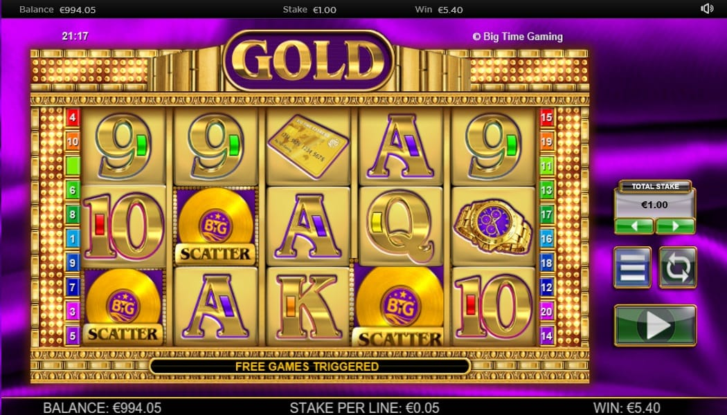 Gold Slots Gameplay