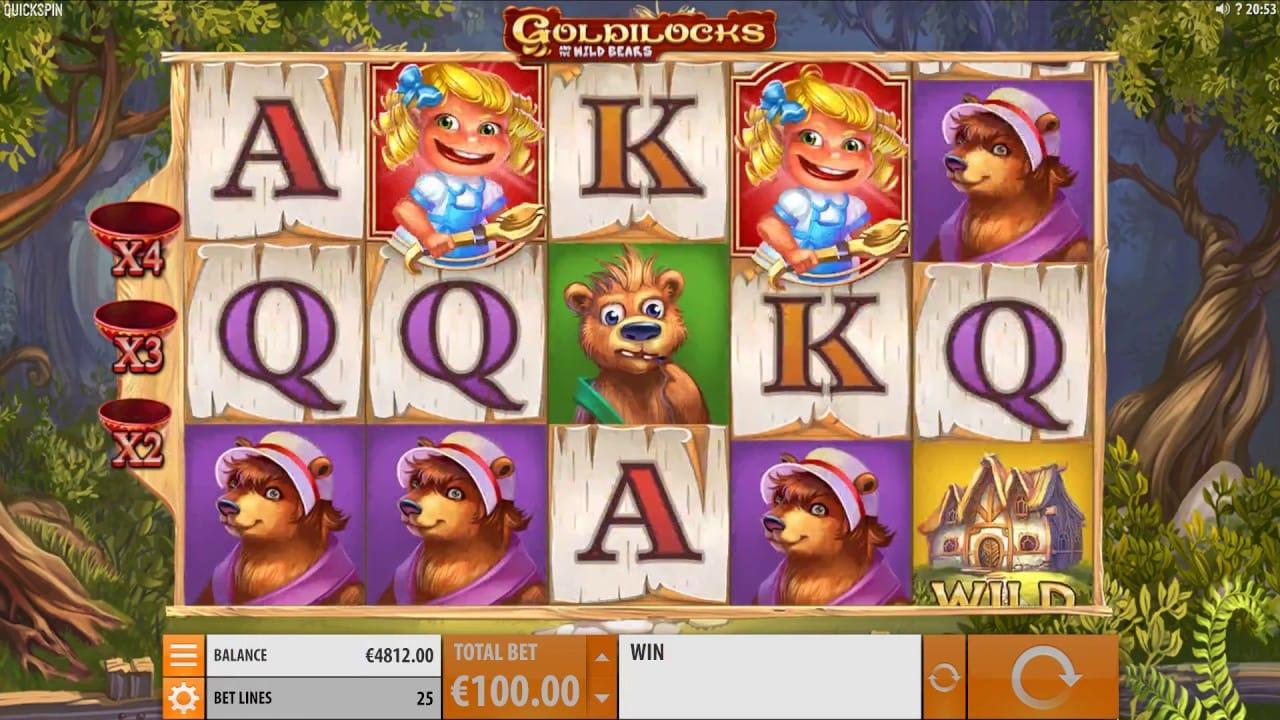 Goldilocks Slot Game Mega Reel Casino