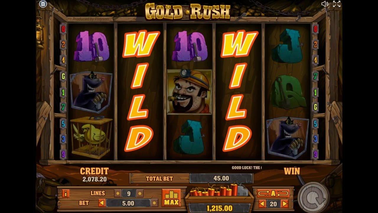 Gold Rush Free Spins Casino Gameplay