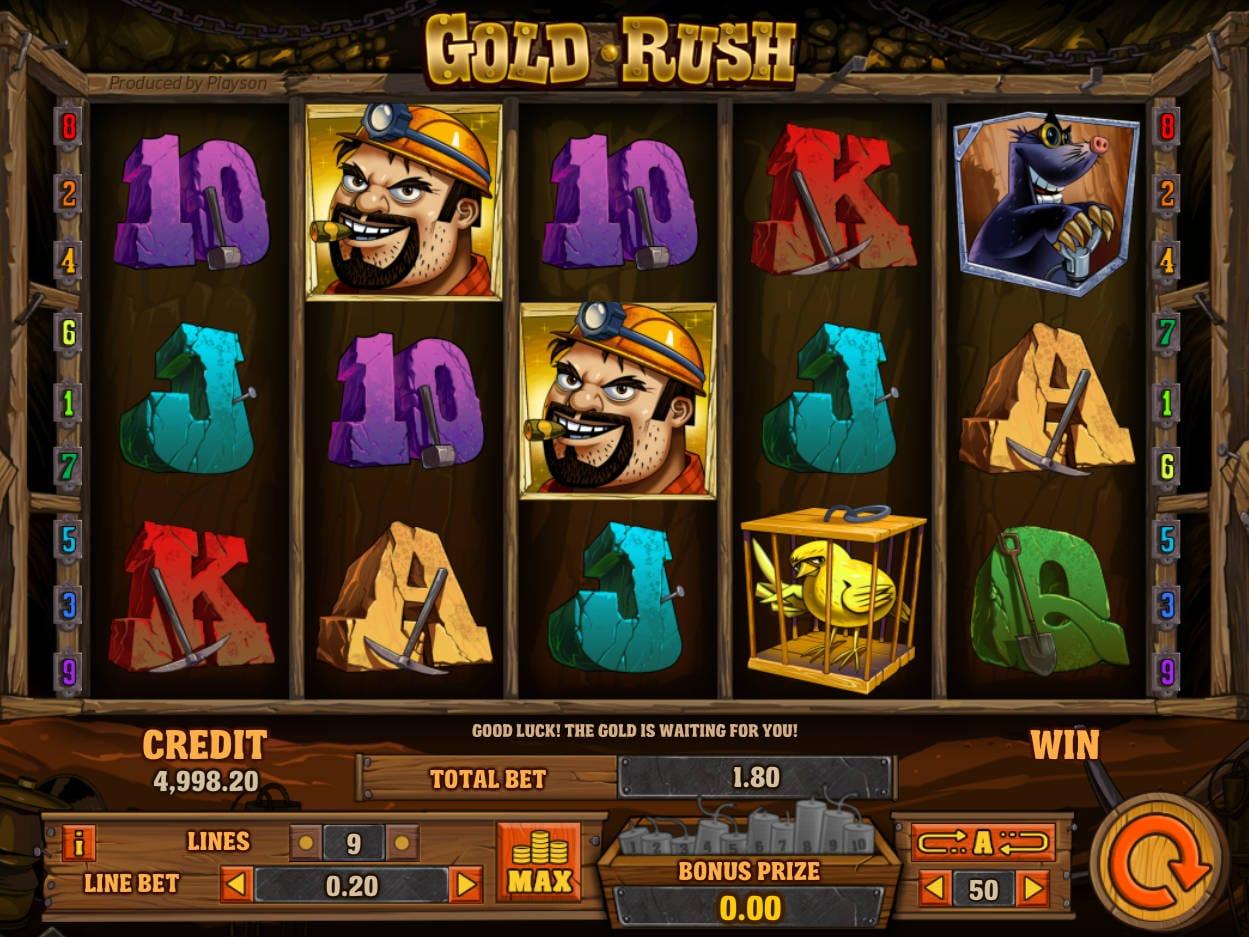 Gold Rush Slot Gameplay Mega Reel