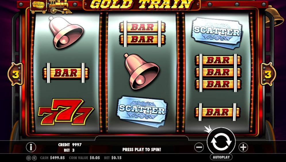 Gold Train Slot Casino Game Play