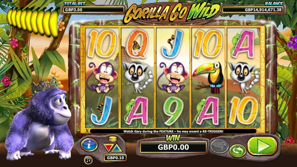 Gorilla Go Wild Casino Game Play