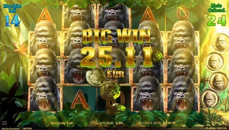 Gorilla Kingdom Slots Big WIn