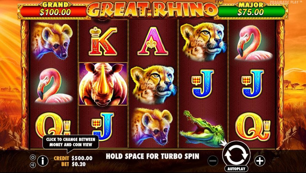 Great Rhino UK Slot Game Play