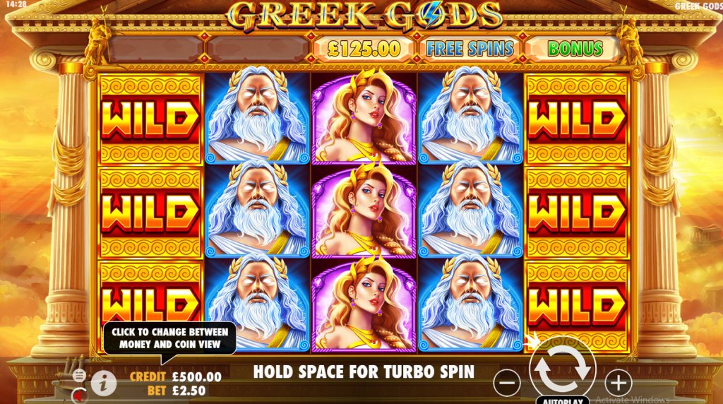 Greek Gods Slot Wilds