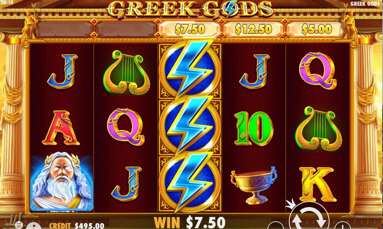 Greek Gods Slots Game