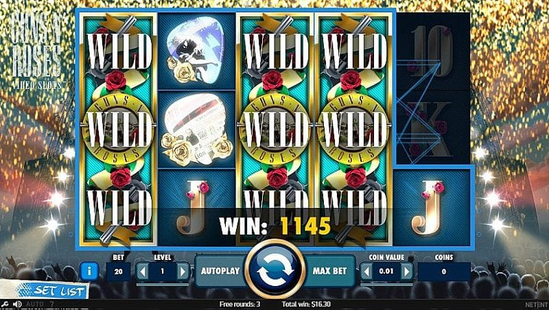 Guns N' Roses Video Slots Casino Game Play