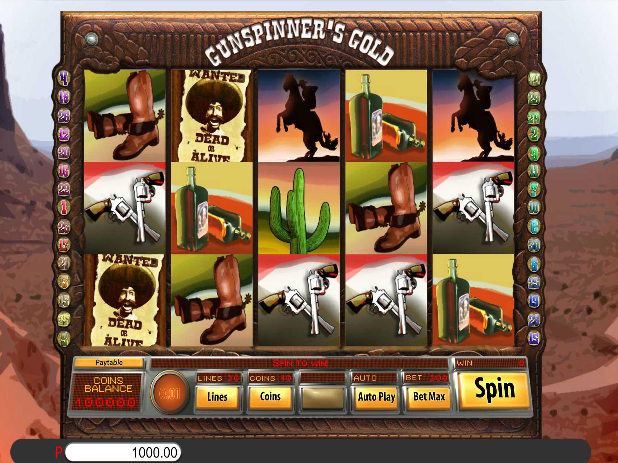 Gunspinner's Gold Slot Game Play