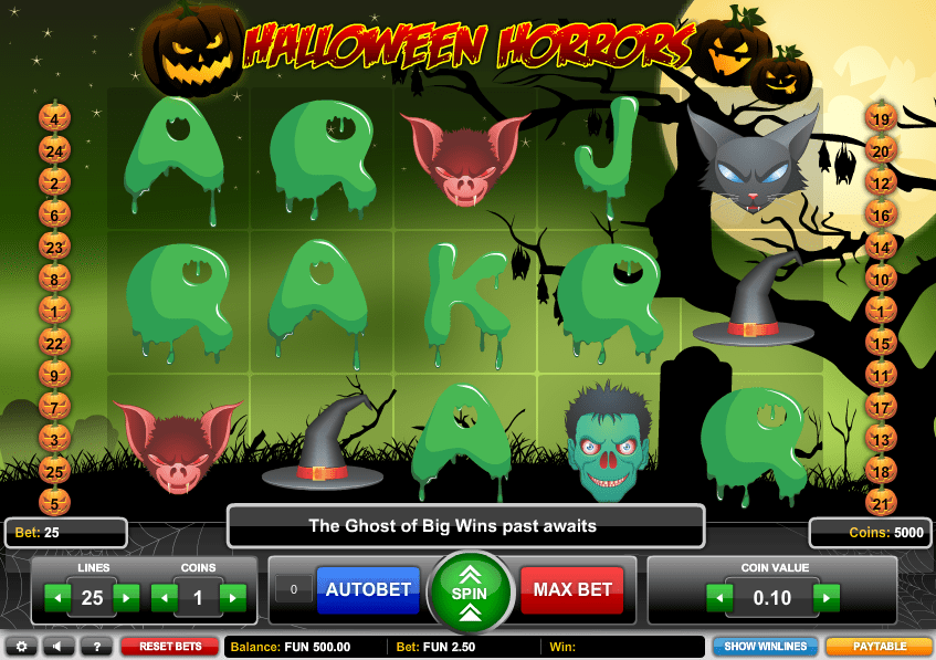 Halloween Horros Casino Game Play