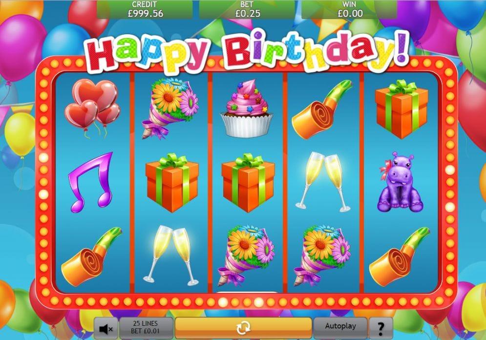 Happy Birthday Slot Casino Game