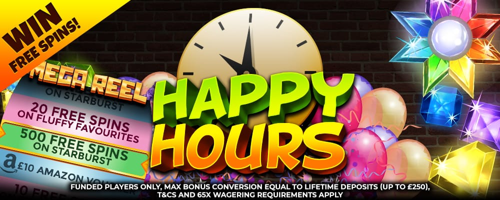 Mega Reel Happy Hour Promotion
