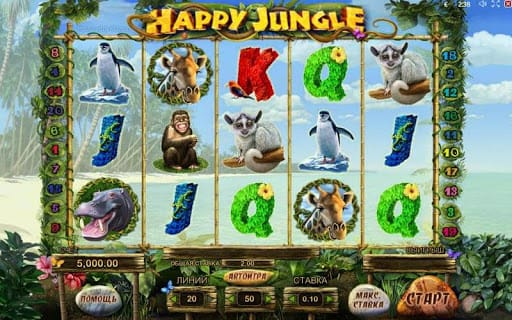 Happy Jungle Deluxe Slot Casino Game