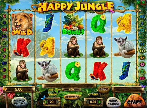 Happy Jungle Deluxe Slot UK Casino