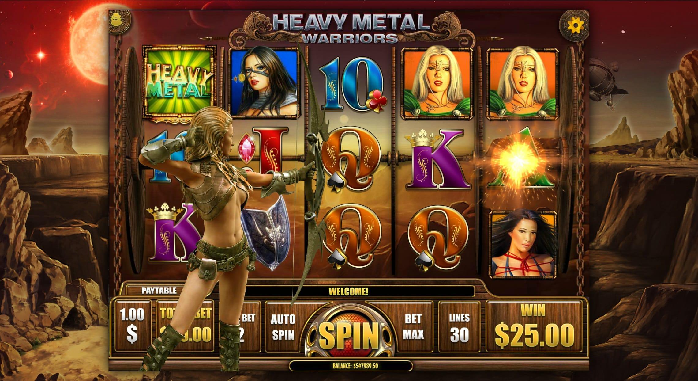 Heavy Metal Warriors UK Casino Game