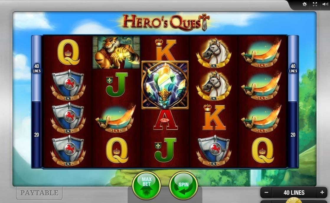 Hero's Quest UK Slot Game