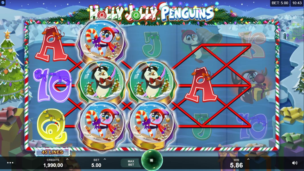 Holly Jolly Penguins Uk Casino Game