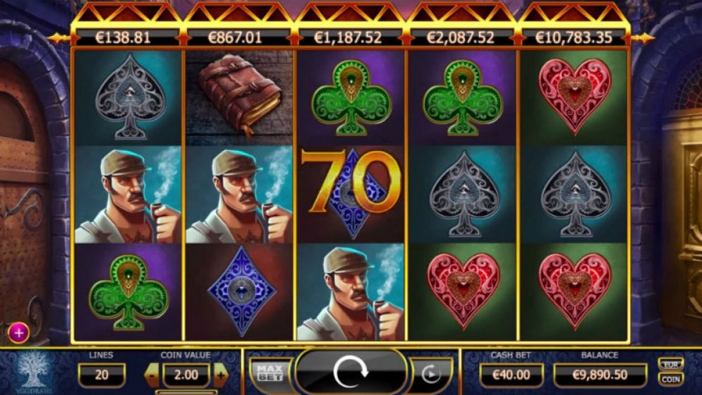 Holmes and the Stolen Stones Slot Casino Game