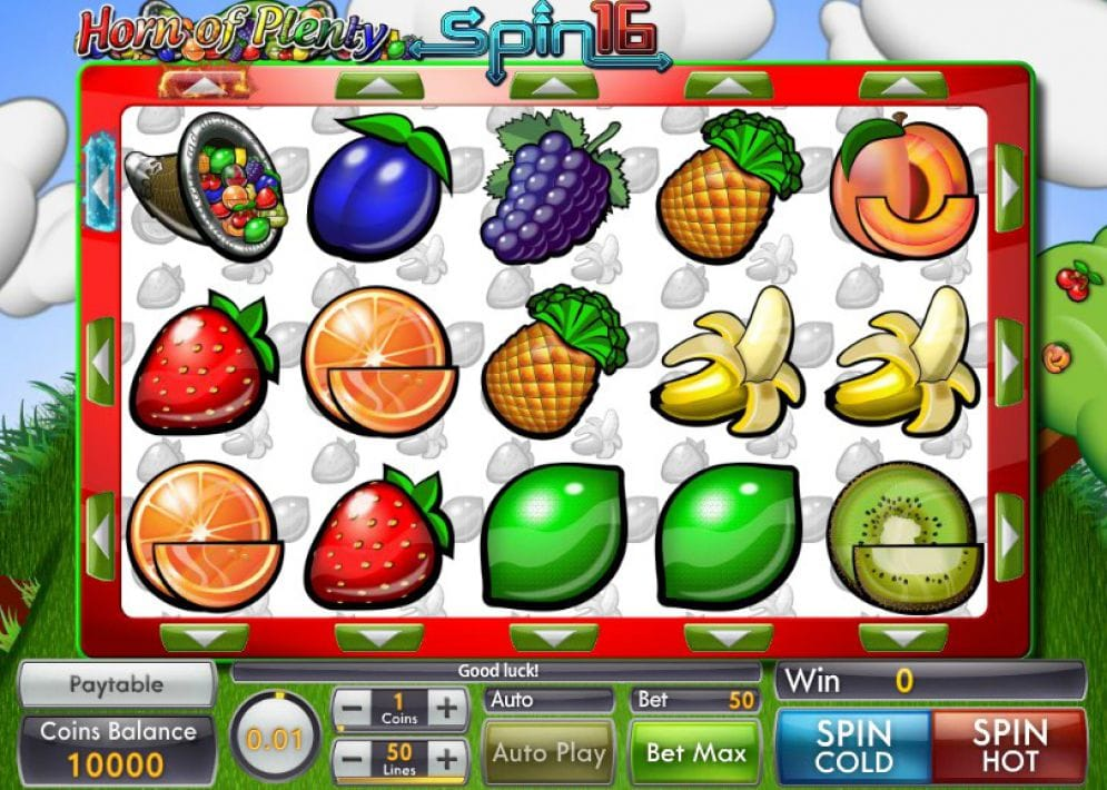 Horn of Plenty Spin 16 Casino Game