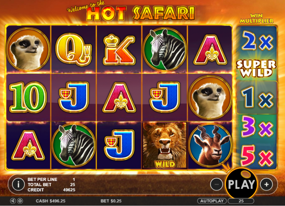 Hot Safari Casino Gameplay