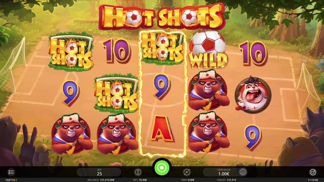 Hot Shots Slot UK Game Play