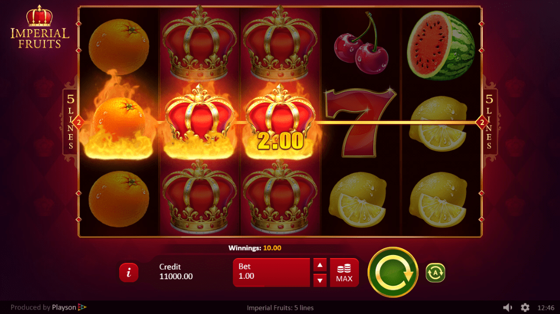 Imperial Fruits: 5 lines slots UK
