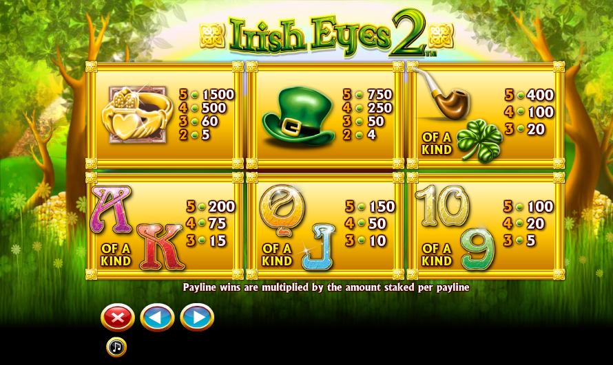 Irish Eyes 2 Symbols Casino Online