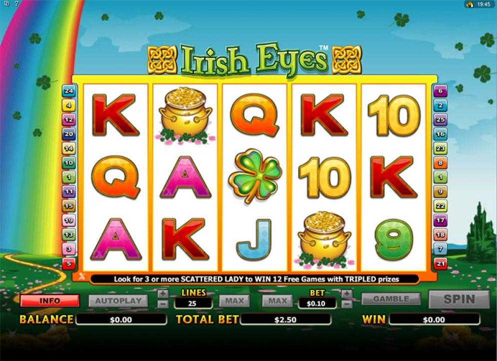Irish Eyes Slot Mega Reel Casino