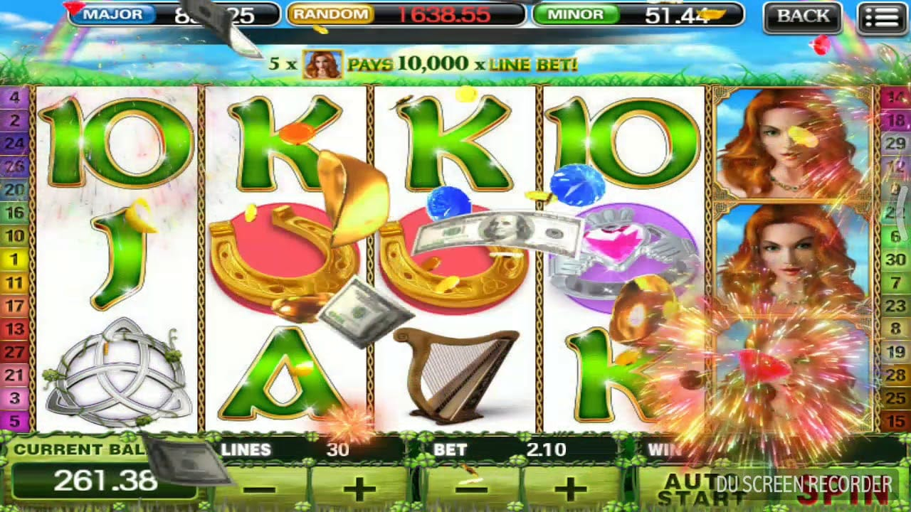 Irish Luck Jackpot Game Play