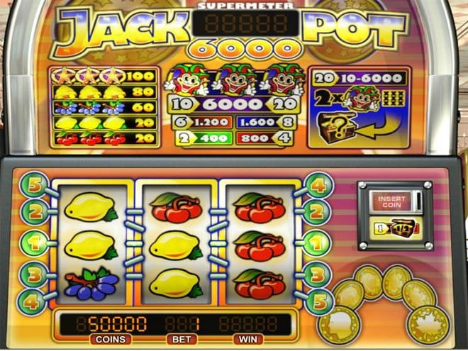 Jackpot 6000 Online Casino Game