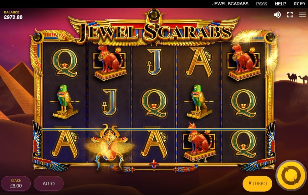 Jewel Scarabs Slots Game