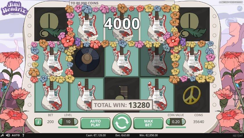 Jimi Hendrix Online Slot Bonuses Image