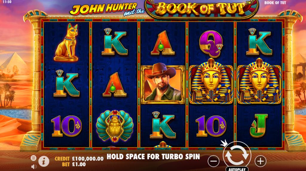 John Hunter and the Book of Tut Slots Game
