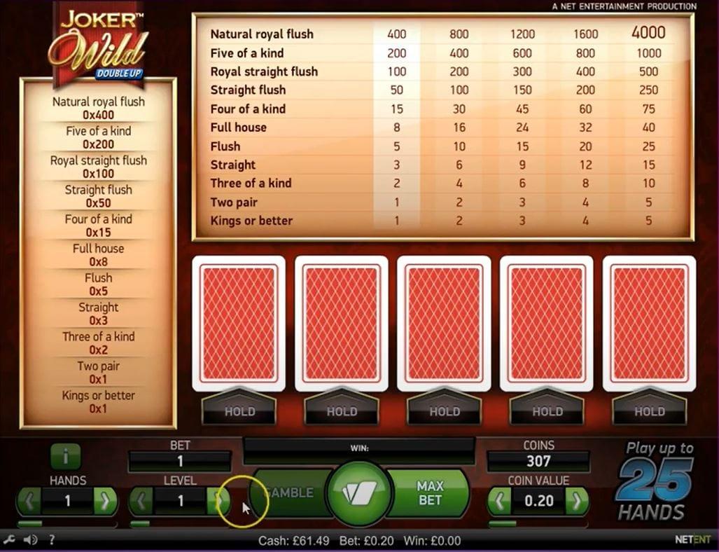 Joker Wild Double Up Slot Mega Reel