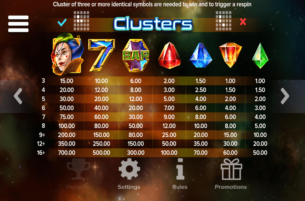 Joker Gems Clusters
