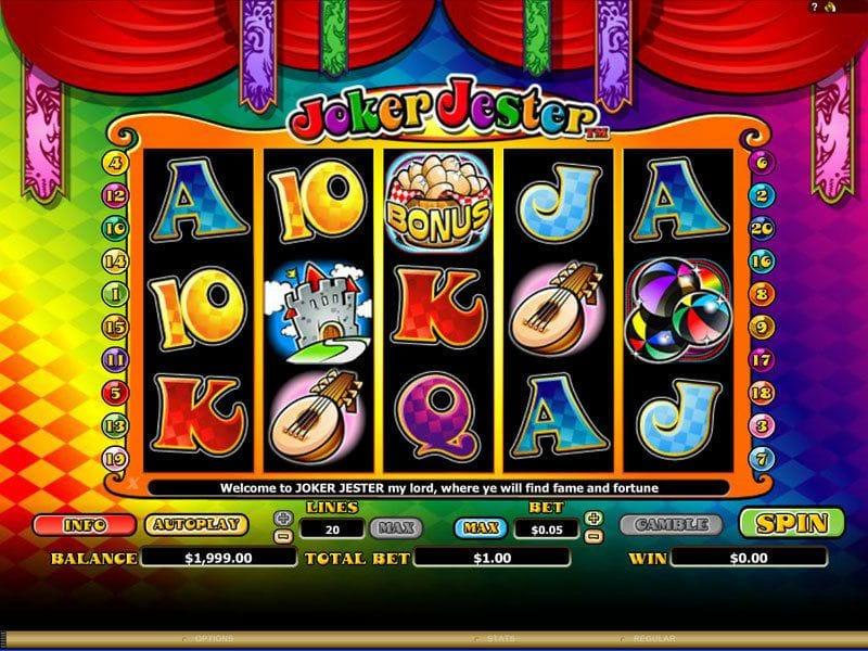 Joker Jester Slot Uk Casino