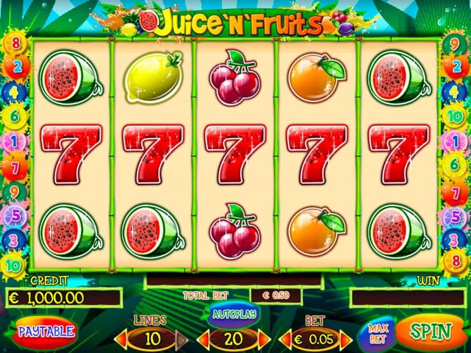 Juice'n'Fruits Slot UK