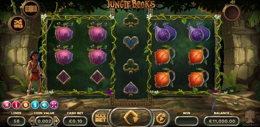 Jungle Books Casino Game UK