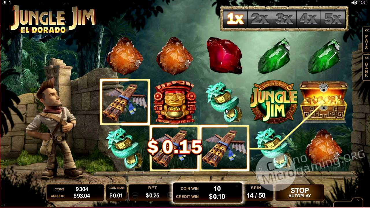 Jungle Jim El Dorado Casino Game Play
