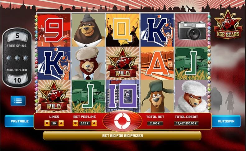KGB Bears Slots UK Mega Reel