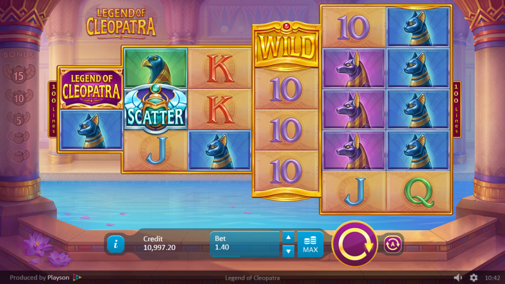 Legends of Cleopatra Slots Game