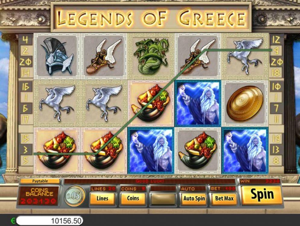 Legends of Greece Slots Game