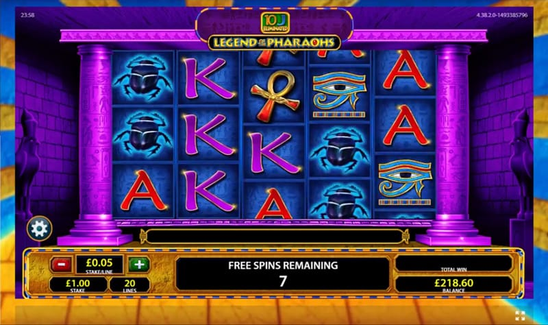 Legend of the Pharaohs Casino Game