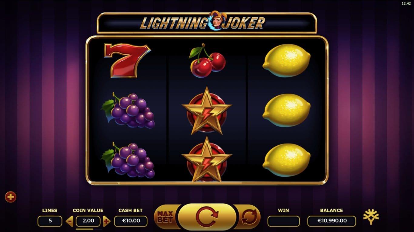 Lightning Joker Slots Gameplay