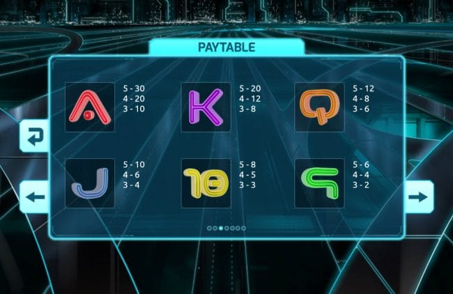 Light Racers Slot symbols
