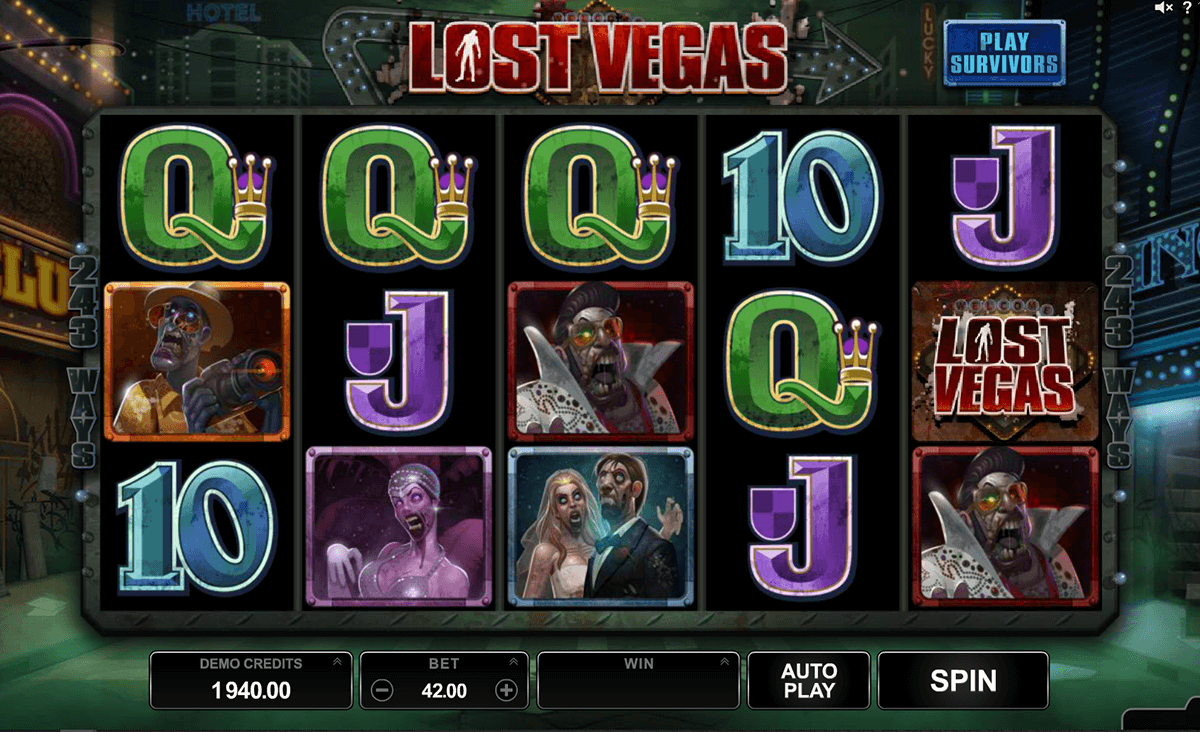 Lost Vegas Game Play