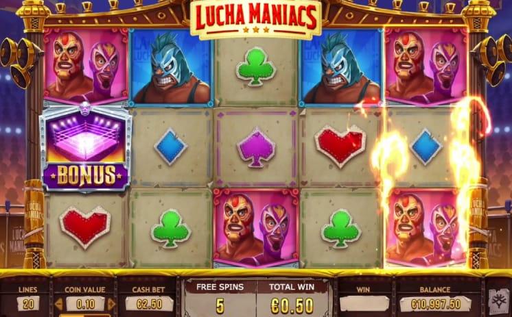 Lucha Maniacs Casino Game