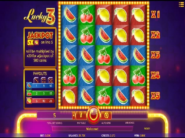 Lucky 3 Slots UK Game