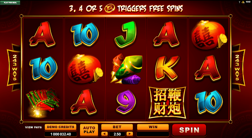 Lucky Firecrackers Casino Game