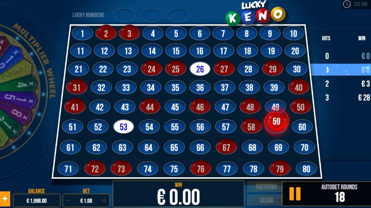 Lucky Keno Casino Game