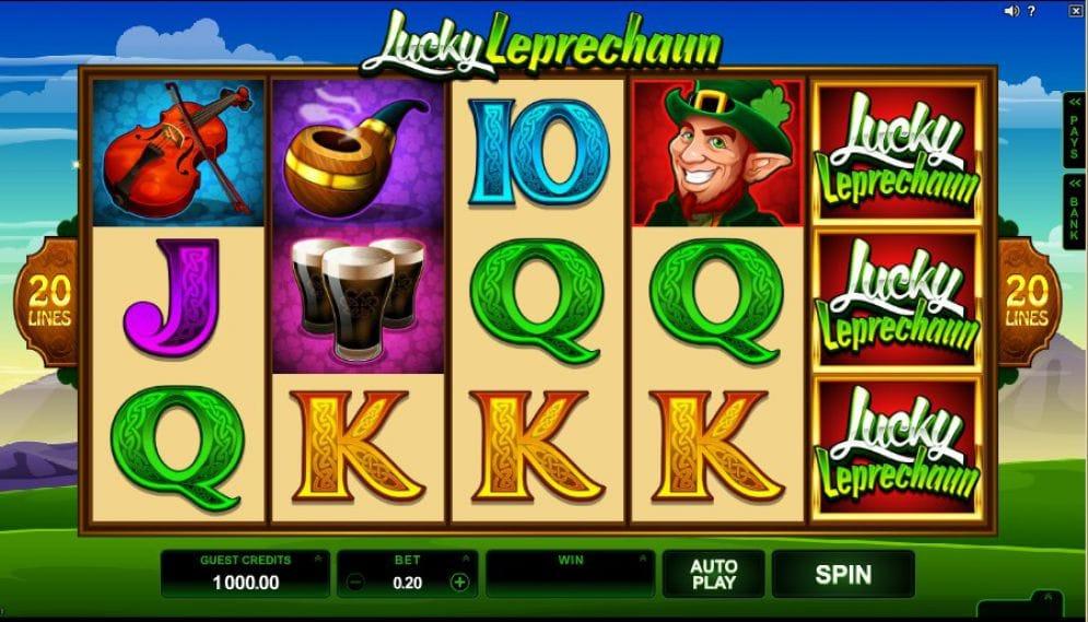 Lucky Leprechaun  Video Slot Features